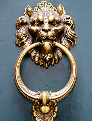 Utopia brass door knocker